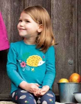 Frugi Hedghogs Little Alana Cosy Top